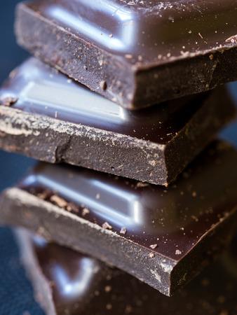 dark: Dark chocolate, close up. Stock Photo