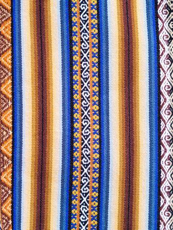ethiopian: Typical Ethiopian hand-woven colorful fabric. Stock Photo