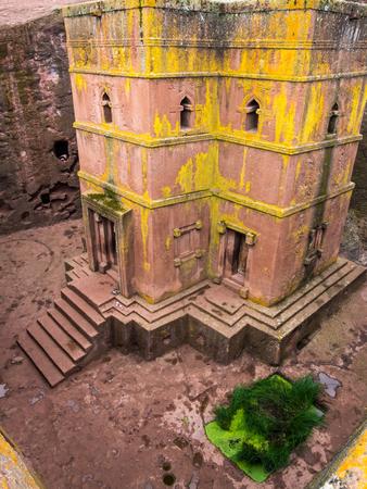 Church of Saint George (Bete Giyorgis), Lalibela, Ethiopia. Wide angle.