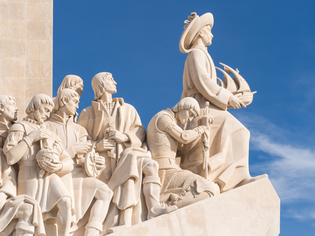 Monument to the Discoveries of the New World in Belem, Lisbon, Portugal. Editorial
