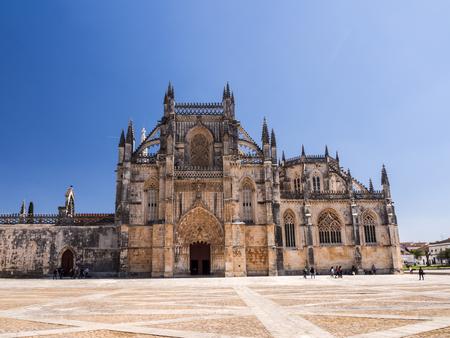 BATALHA, PORTUGAL - APRIL 04, 2017: Monastery of Batalha (Portuguese: Mosteiro da Batalha), a Dominican convent in Batalha, Portugal. Редакционное