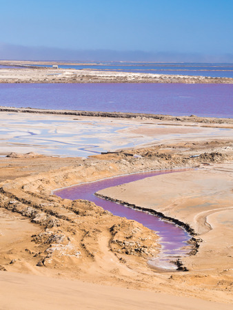 ウォルビスベイ、ナミビア、アフリカでの塩の干潟。 写真素材