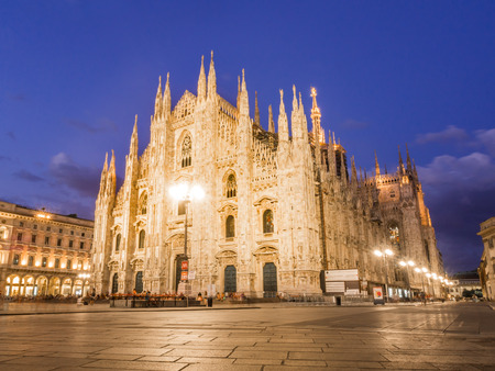 MILAN, ITALY – AUGUST 09,2017: Milan Cathedral, Duomo di Milano, by night.