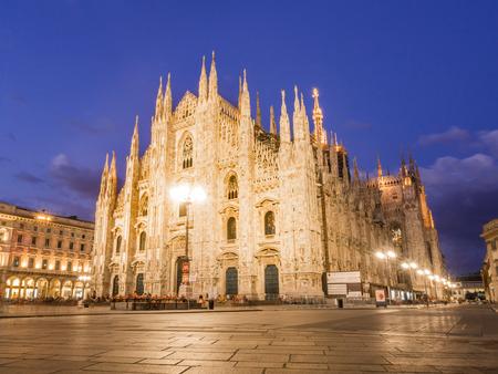 MILAN, ITALY – AUGUST 09,2017: Milan Cathedral, Duomo di Milano, by night. Sajtókép