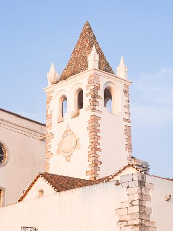 Tower of the Nosso Senhor dos Inocentes church in Estremoz, Evora district, Portugal.