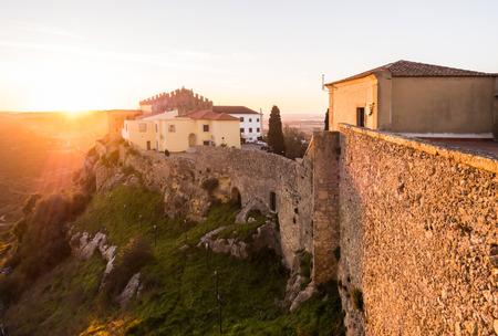 PALMELA, PORTUGAL – FEBRUARY 03, 2019: Palmela Castle in Setubal District, south of Lisbon in Portugal, at sunset.