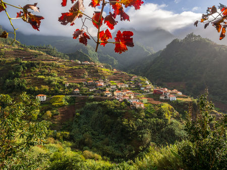 Houses and landscape on the Madeira island, Portugal.
