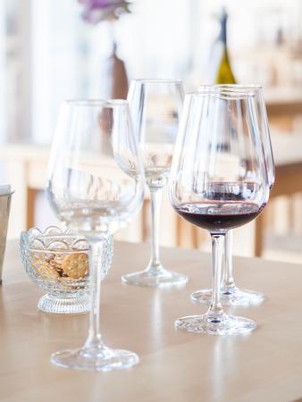 Wine tasting in Setugal wine region, Portugal.