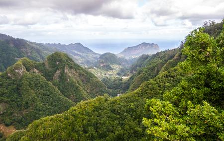 View from Balcoes de Ribeiro Frio viewpoint, levada dos Balcoes in Madeira island, Portugal.