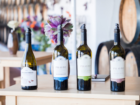 Setubal, Portugal - February 02, 2018: Wine tasting at Quita do Piloto in Setubal wine region, Portugal.