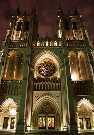 Washington National Cathedral Washington DC Church Night Gothic