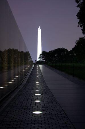Vietnam War Memorial Monument Washington DC Night