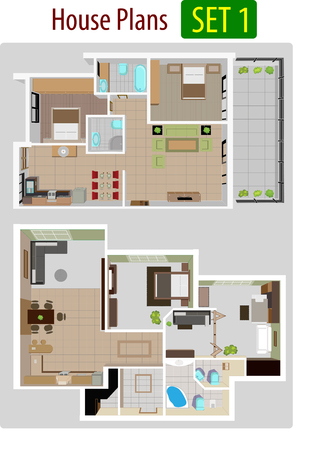 floorplan: Vector illustration of House plan