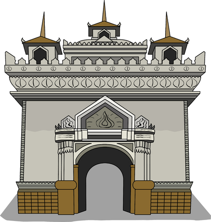 lao: Vector illustration of  Laos symbol