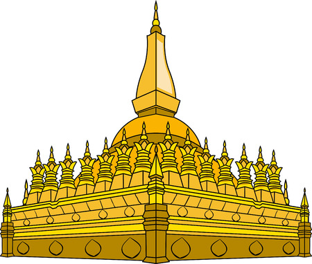 lao: Vector illustration of  Laos temple