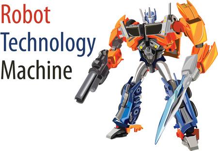 Illustration vectorielle de la technologie des robots