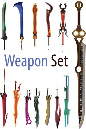 Vectors illustration of Weapon set
