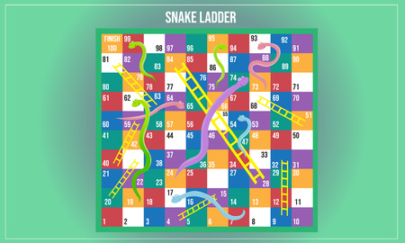 Vector illustration of Snake ladder