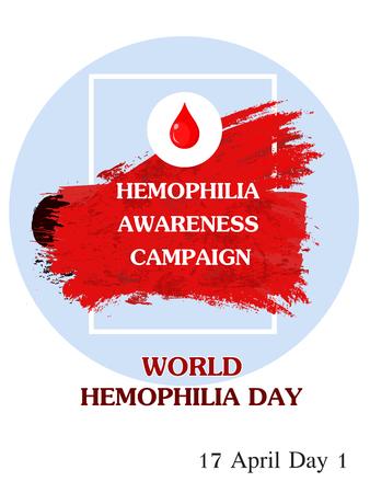 Vector Illustration of World Hemophilia Day