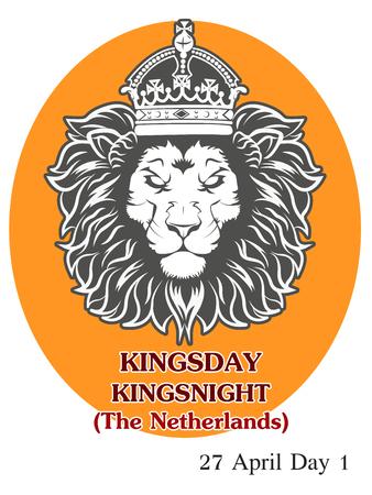 Vector Illustration of  King's Day (The Netherlands) Ilustração