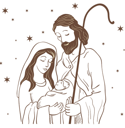Vector graphic Illustration of Jesus day