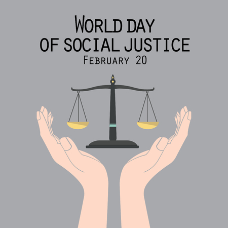 Vector graphic Illustration of World day social justice day