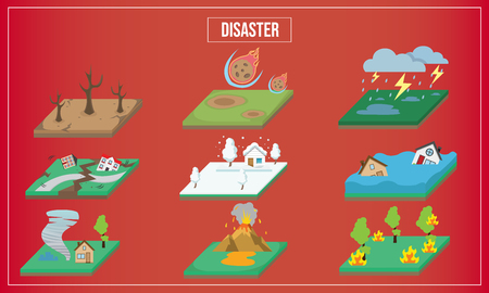 Vector Illustration of disaster of the world