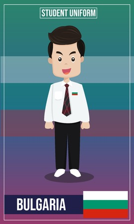 Vector illustration of Student costume of The world