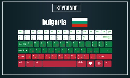 Vector Illustration Computer keyboards layout of Bulgaria 向量圖像