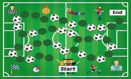 Illustrazione vettoriale del gioco Puzzle Football Vettoriali