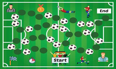 Vector illustration of Puzzle game Football 向量圖像