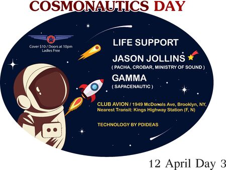 COSMONAUTICS DAY IN ART GRAPHIC