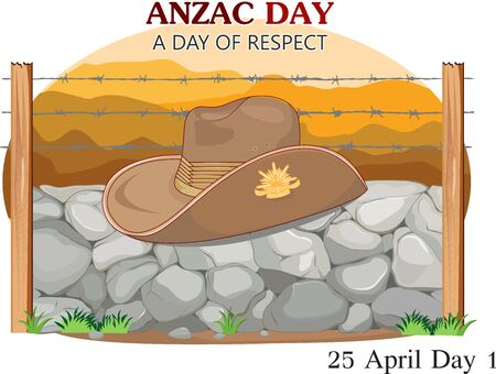 VECTOR ILLUSTRATION OF ANZAC DAY 向量圖像