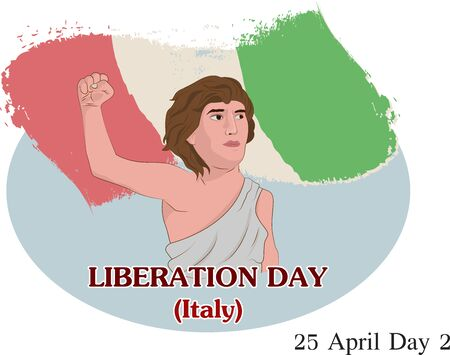 Vector illustration of LIBERATION DAY IN ITALY