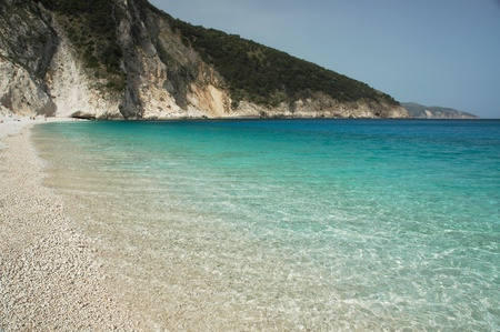 Myrtos turquoise water photo