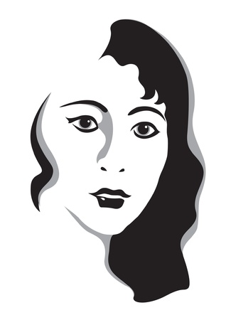 Beautiful young womans face Vector