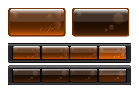 glossy buttons: Set of semitransparent buttons Illustration