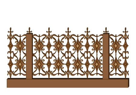 iron fence: Wrought-iron fence in retro style
