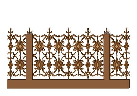 smithery: Wrought-iron fence in retro style
