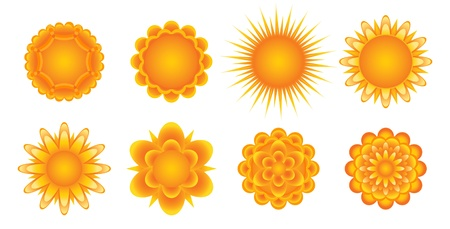 Set of sunny icons Vector