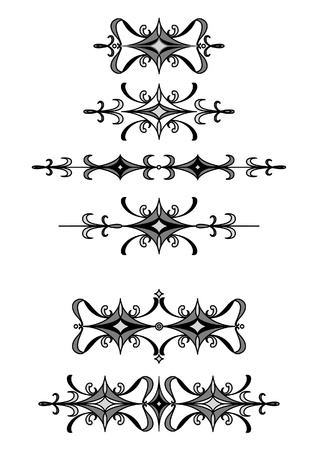 Set of stylish editable decorative elements for your design. Combine details as you wish. Stock Vector - 9945762
