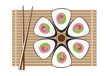 vector sushi illustration for your design Stock Vector - 9935939