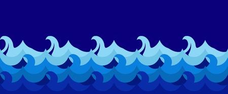 Horizontal seamless wave illustration Stock Vector - 10045420