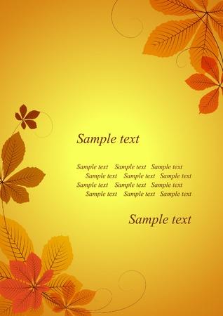 Zusammenfassung Herbst Hintergrund mit Kastanienblätter