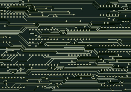 Seamless industrial background with circuit board Vector
