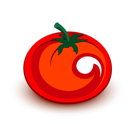 Tomato icon. Fruits and vegetables collection Vector