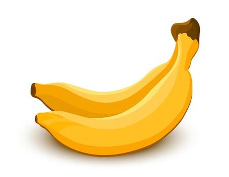 banaan cartoon: Bananen pictogram. Groenten en fruit collectie Stock Illustratie
