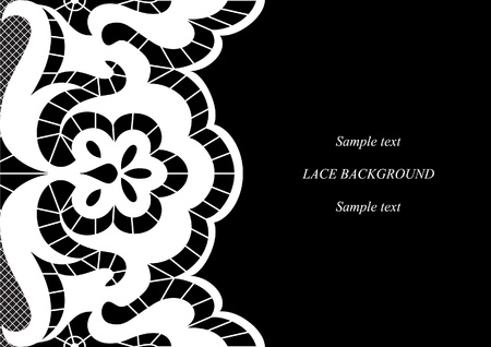 Seamless lacy background. Space for your text
