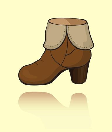 chamois leather: Shammy boot icon on light background