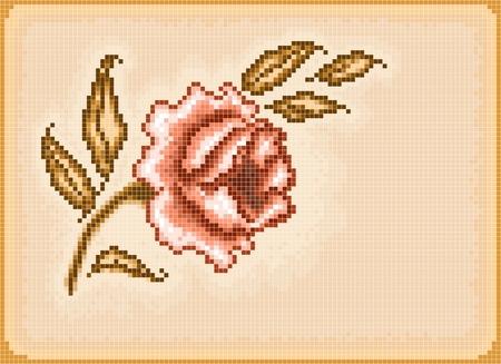 Floral pixel background Vector